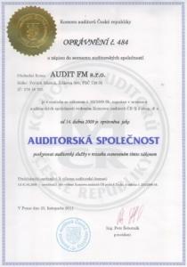 Certifikát auditora