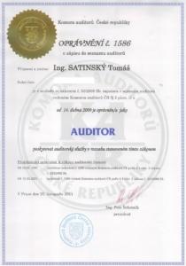 Certifikovaný auditor - Ing Tomáš Satinský